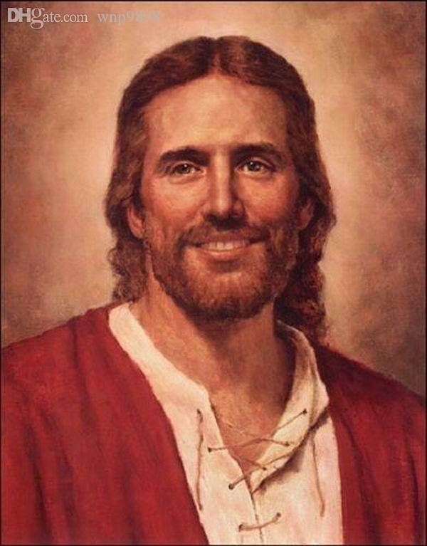 # A050 Del Parson AMOR DE CRISTO Jesús sonriente Decoración impresión de HD pintura al óleo sobre lienzo de arte cuadros de la pared de lona 200110