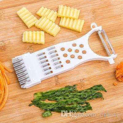 Нержавеющая сталь многофункционального ножа терка ломтерезка резак растительного фрукты пилинг резак ломтерезка кухонных принадлежности XD22608