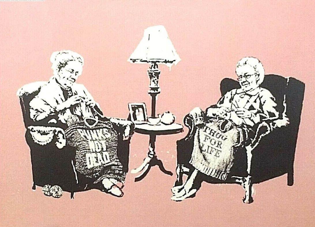 BANKSY versiegelt -008 Hauptdekor handgemaltes HD-Druck-Ölgemälde auf Leinwand-Wand-Kunst-Leinwandbilder 200119