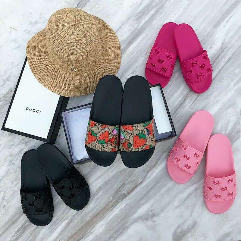 Мужские дизайнерские причинно-следственные резиновые женские летние тапочки Huaraches, классические кожаные мокасины квартиры летний пляж шлепанцы