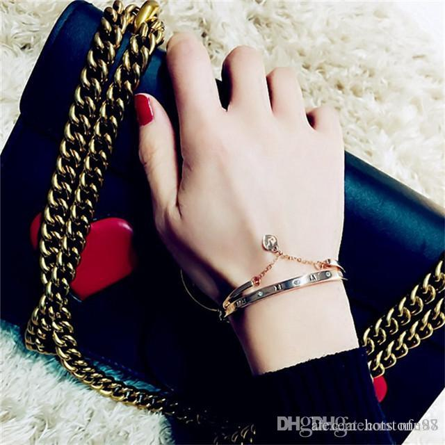 Chegada nova Moda Necessidade de Beleza Pulseira Jóias Coração Pulseiras Mulheres Menina Melhor Presente Para O Dia Dos Namorados de Natal linda pulseira de Trevo