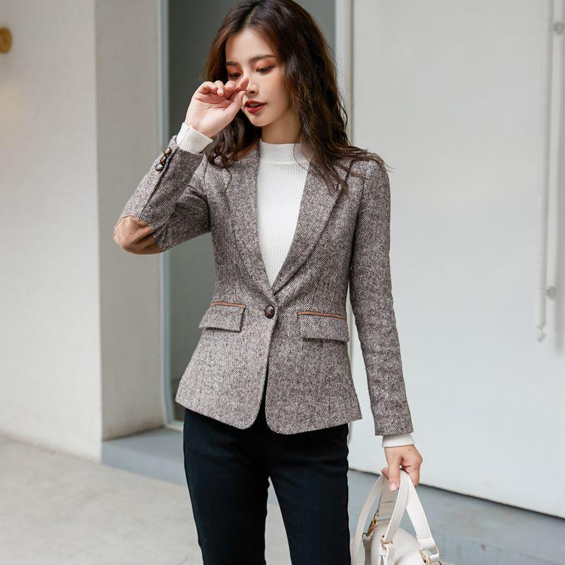 imágenes oficiales valor fabuloso nuevo estilo de 2019 2019 Promotion Real Women Blazers And Jackets Blazer Mujer British  Suit Jacket Style Of Spring Self Cultivation Net Leisure From Michalle, ...
