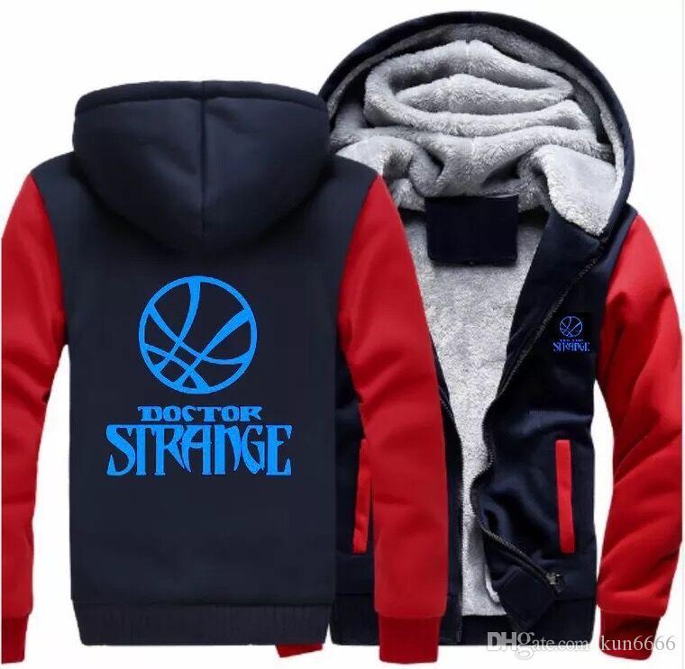 Doctor Strange hoodies Thicken fleece 2019 Winter Cotton Coat Zipper Jacket super warm Leisure Sweatshirts USA EU Size Plus Size