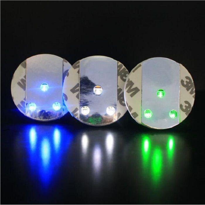 أضواء LED ملصق كوستر - زجاجة النبيذ الخمور مسح كأس الزجاج كوستر