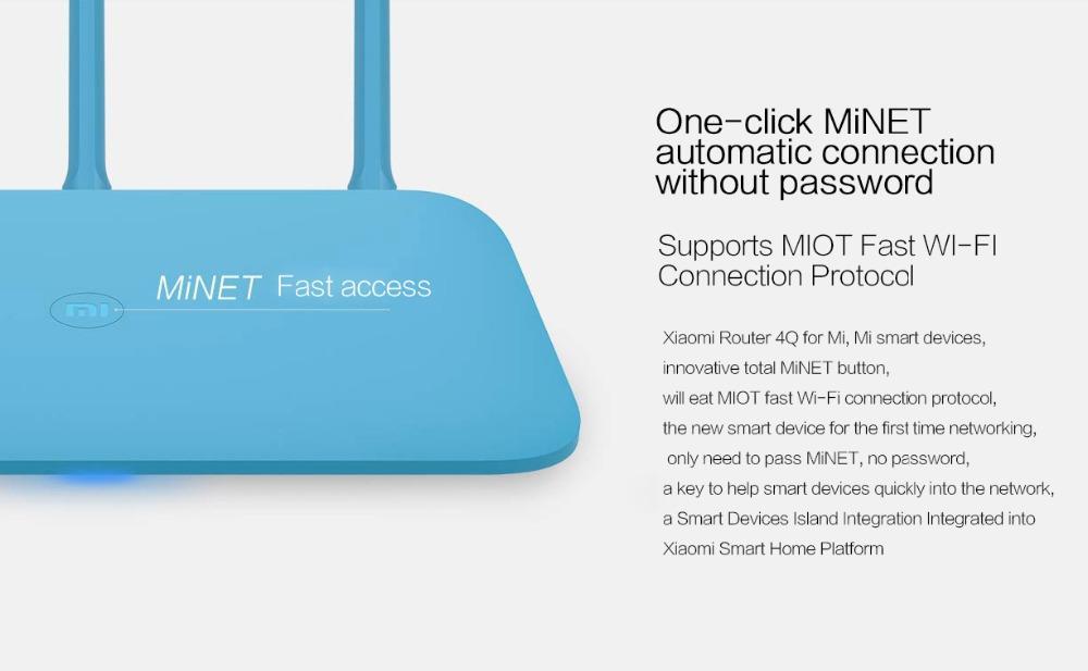 New Original Xiaomi Mi Router 4Q 3 Antennas Blue Wireless 2.4G 802.11bgn 450Mbps APP Control 64M ROMRAM Wifi Wireless Routers-8