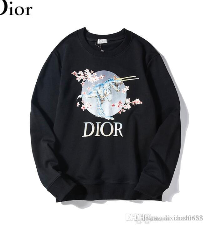 Para hombre blanca del diseñador del suéter con capucha de los hombres de las mujeres del suéter de manga larga con capucha suéter Marca sudaderas Streetwear Moda Sweatershirt M-2XL MI