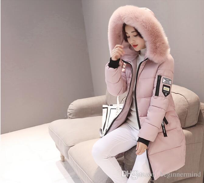 파카 여성 겨울 코트 롱 코튼 캐쥬얼 모피 후드 자켓 여성 따뜻한 겨울 파카 여성 오버 코트 여성 코트