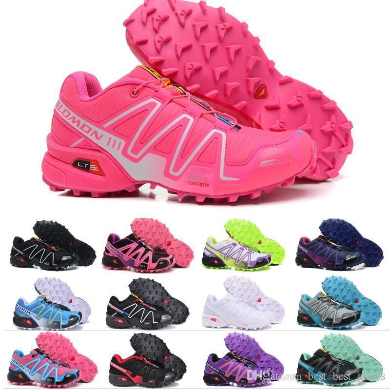2019 Nouveau Salm Speed Cross 3 Cs Iii Femmes Chaussures De Course Top Qualité Noir Rouge Orange Bleu En Plein Air De Jogging Sport Athlétique Chaussure 36-41