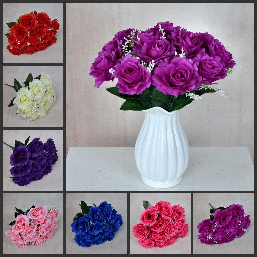 Fleurs artificielles 35cm Flannelette Rose Faux Fleurs Plant pour La Maison De Mariage Décoration Fleurs 7 Couleurs Nouveau