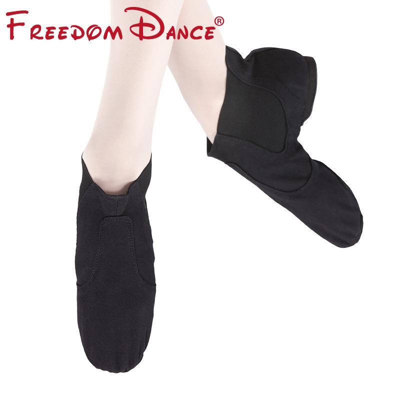 Brand New Ткань Stretch скольжению на джазовый танец ботинки для женщин Мужчины мальчиков Hip-Hop Упражнение Ботильоны Мягкие Крытый кроссовок