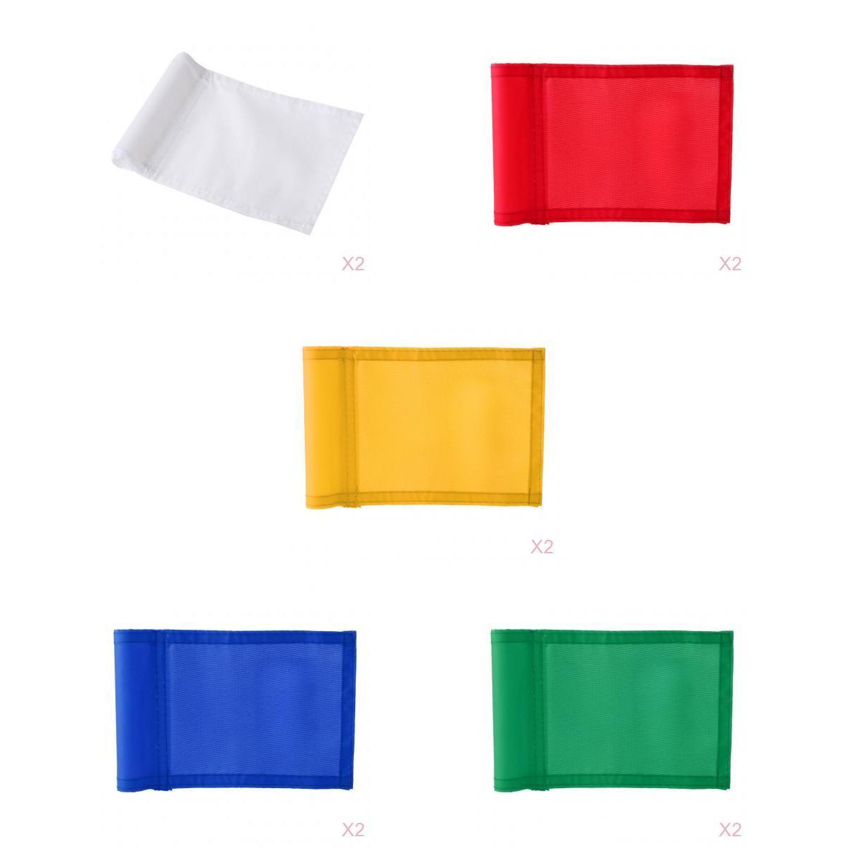 10Pcs Practice Golf Hole Pole Cup Flag,Outdoor Garden Golf Sports Training Aid,Backyard Putting Green Flag Replacement
