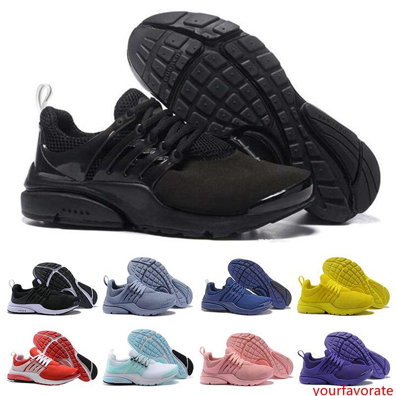Presto BR QS Zapatillas para mujer para hombre Triple Negro Blanco rojo para hombre entrenadores atléticos Jogging deportes Zapatillas de deporte tamaño del zapato 36-45