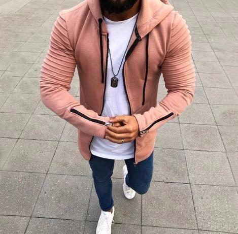 봄 가을 까마귀 남성 가디건 2019 새로운 긴 소매 후드 남성 지퍼 스웨터 망 두건 플러스 크기 코트 재킷