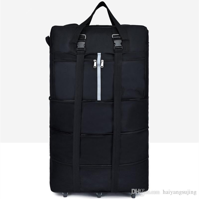 Bolsas plegables de gran capacidad Portador de aire Pulgulo de aire Calidad Estilo de equipaje en el extranjero Ruedas Viajes Oxford High Almacenamiento Impermeable 36 Bolsa 6 Movimiento WFHJ