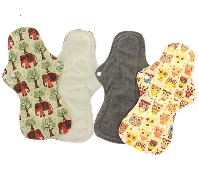 13 pouces | Resuable menstruelles Pad, débit normal en tissu imperméable Mama serviette hygiénique Tapis, charbon de bambou Tapis menstruelles
