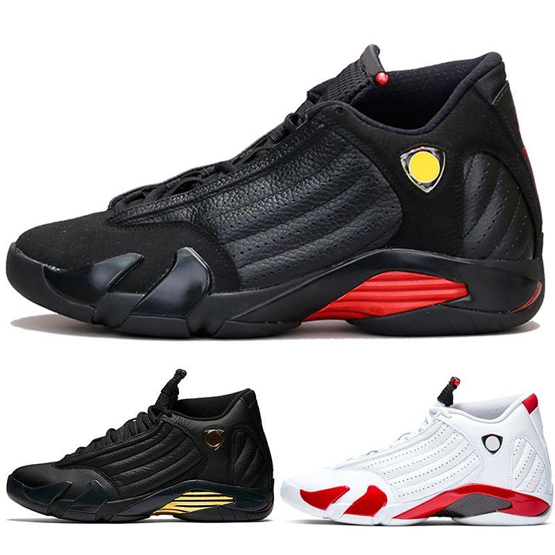 Nike Air Jordan 14 Retro 14s мужчины дизайнер баскетбольная обувь 14 конфеты тростник последний выстрел песок черный носок Гром тренер спортивные кроссовки дешевые
