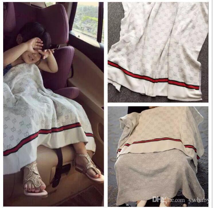 90*120 см новорожденный ребенок вязаные одеяла мода дети пеленать коляску постельные принадлежности чехлы мягкие кормящие постельные принадлежности