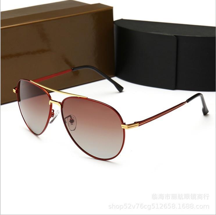 2020 de lujo gafas de sol polarizadas Hombres Mujeres piloto gafas de sol UV400 Gafas controlador de metal de alta calidad Gafas de sol Gafas de sol Hip Hop