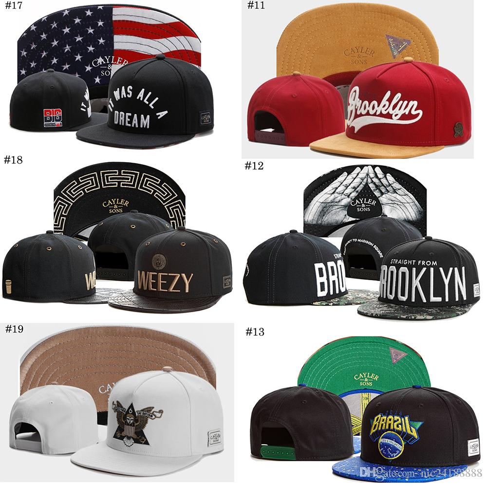 Fashion Hip Hop Snapbacks Hat Cayler & Sons Snapbacks Adjustable ...