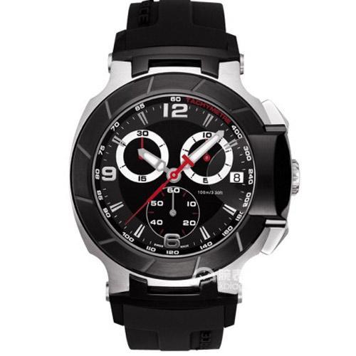 T048.417.27.057.00 Reloj para hombre Reloj deportivo y deportivo Relojes T048 Cronógrafo Relojes de pulsera de cuarzo para hombre Reloj impermeable de la T-Race Marca líder