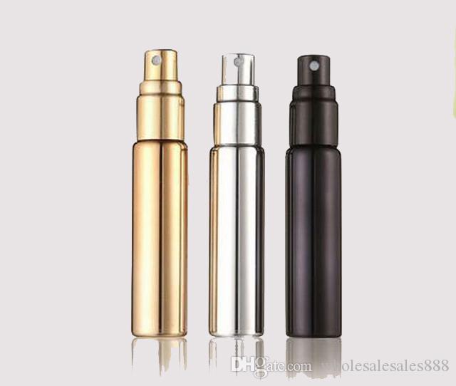 Toptan 10 ml parfüm şişesi kaplama işlemi sprey şişe cam atomizer şişesi