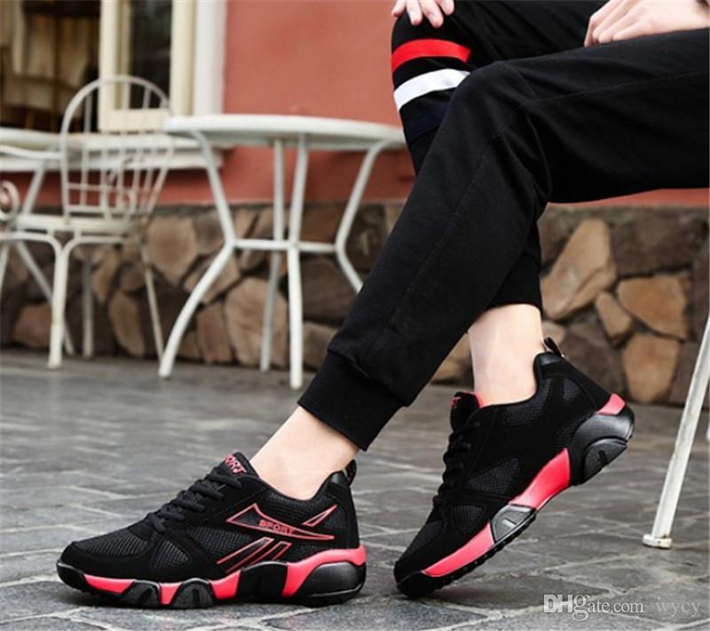 2019 박스 AAA 비행 야생 청소년 통기성 패션 디자이너 신발 운동화 삼색 운동화 남자의 가벼운 운동화