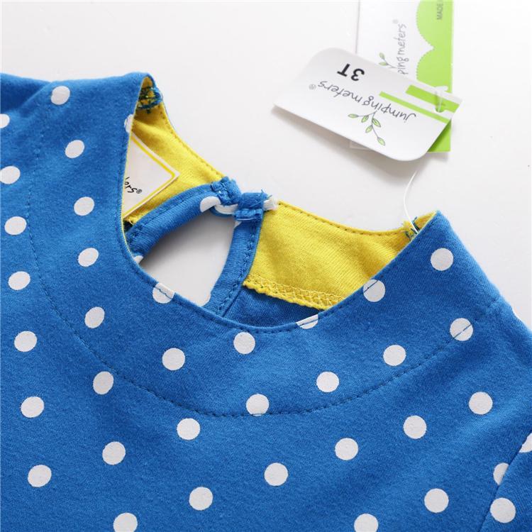 100% algodão bordado dos desenhos animados Dress Crianças Designer Clothes Meninas verão vestido Appliqued Roupas de bebê Túnica bebê Vestidos TFJ142
