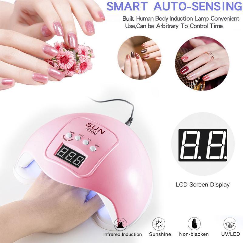 Meilleures ventes 2020 Produits LED 48W UV Nail Gel Durcissement Nail Art machine USB Lampe Gel art Sèche-polonais