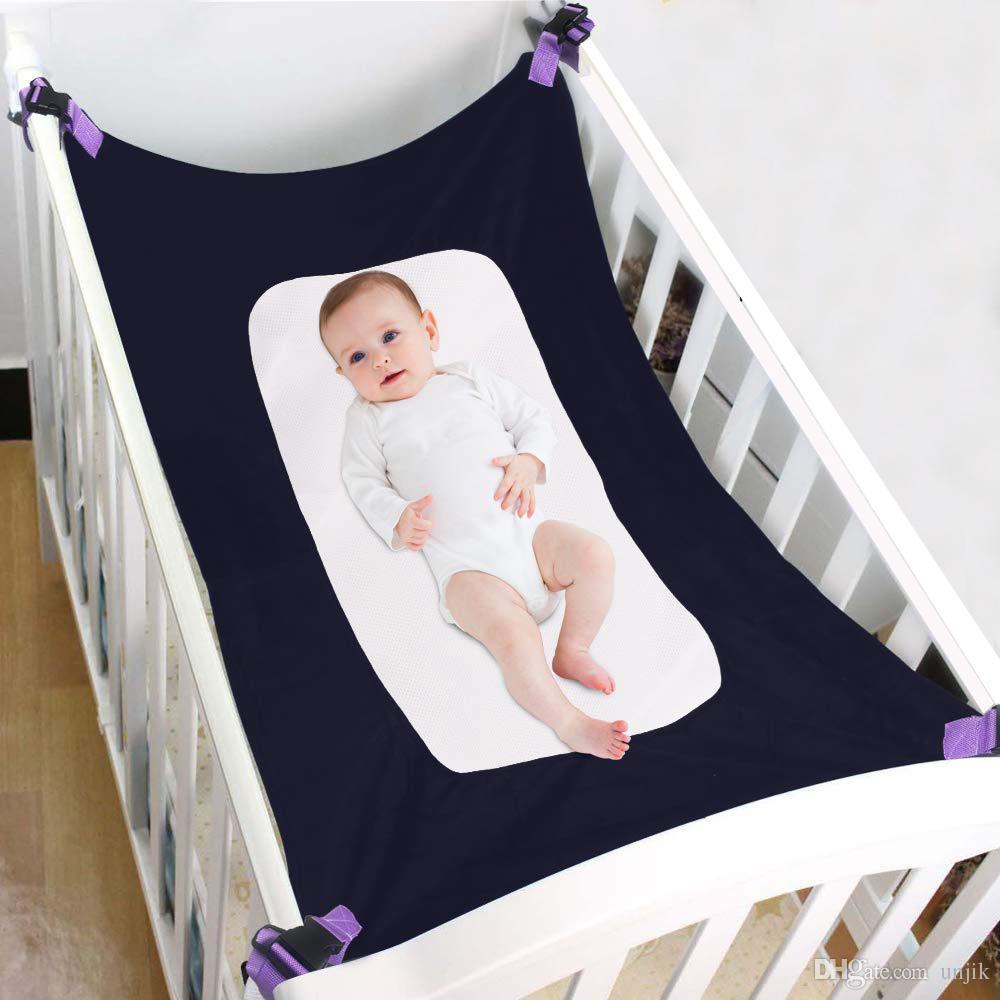 Neue Baby-Säugling Hammock Outdoor Abnehmbare bewegliches Bett Komfortabler Kit Krippe Elastic Hammock mit verstellbarem Net
