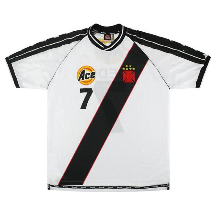 2021 1999 2000 Vasco Da Gama Retro Soccer Jersey 99 00 Romario Da ...