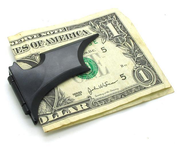 3 ألوان 121x36 ملليمتر باتمان على شكل كليب المال للرجل المغناطيسي بطاقة قابلة للطي حامل المعادن محفظة النقدية عد مقاطع النقدية