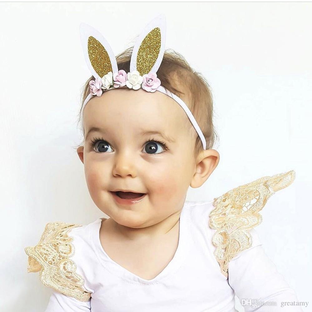 Girls Hair Bow Boutique Bow Baby Headband Babys First Easter Bunny Headband Shabby Headband Purple Bunny Bow Easter Headband