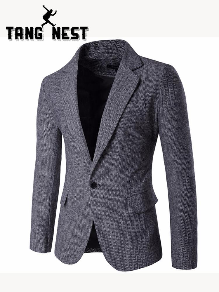 TANGNEST Neue Ankunft Blazer Masculino Slim Fit Lässige Single Button Männer Blazer Heißer Verkauf Komfortable Männer Blazer 3 Farben MWX383