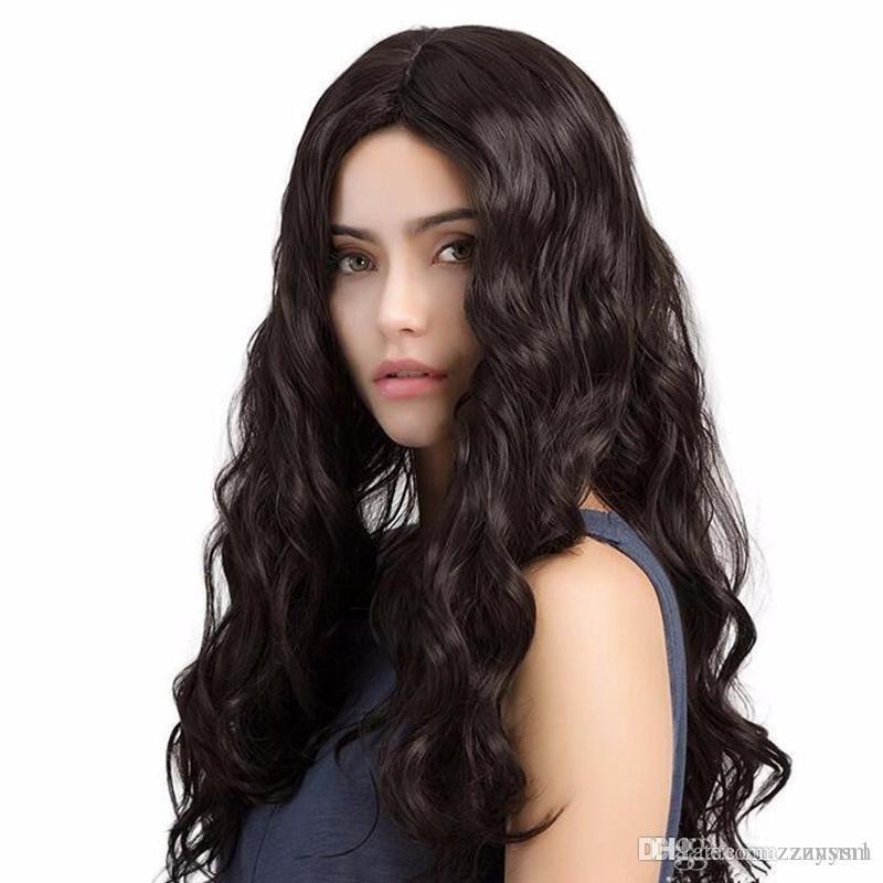 Lâche vague perruque fil haute température brésilienne Fron perruques pour les femmes avec plumé Nœuds perruque d'avant Blanchis