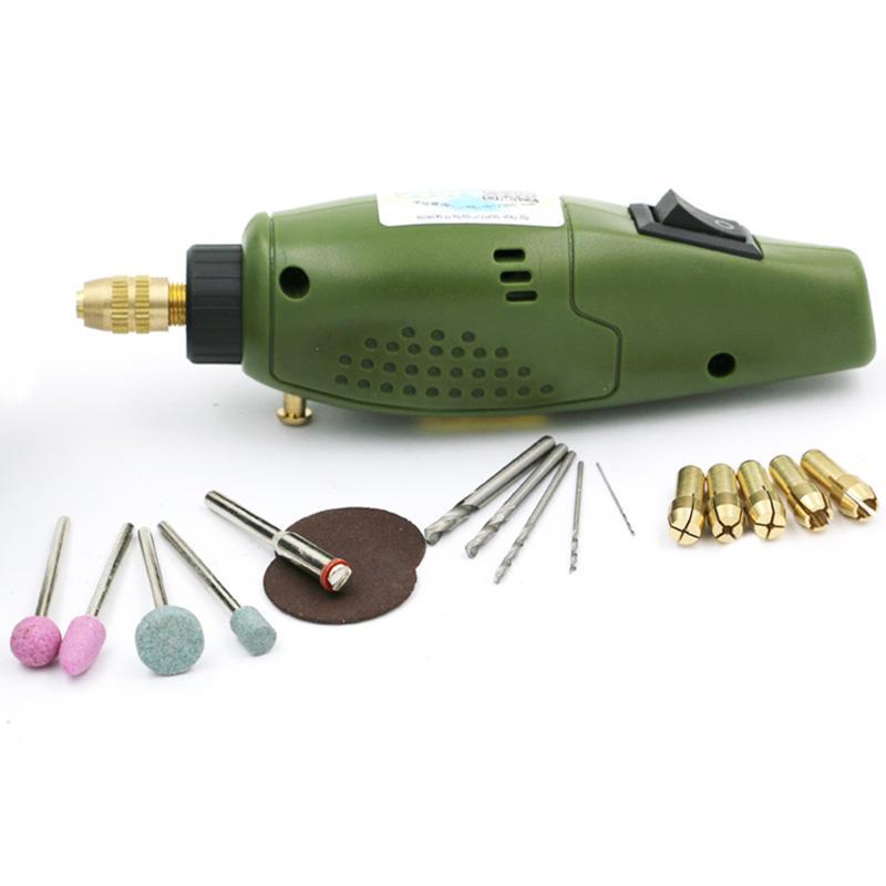 THGS Electric Grinder Mini Drill para Dremel Set de molienda 12V Dc Dremel Accesorios Herramienta para fresado Pulido Taladrado Corte