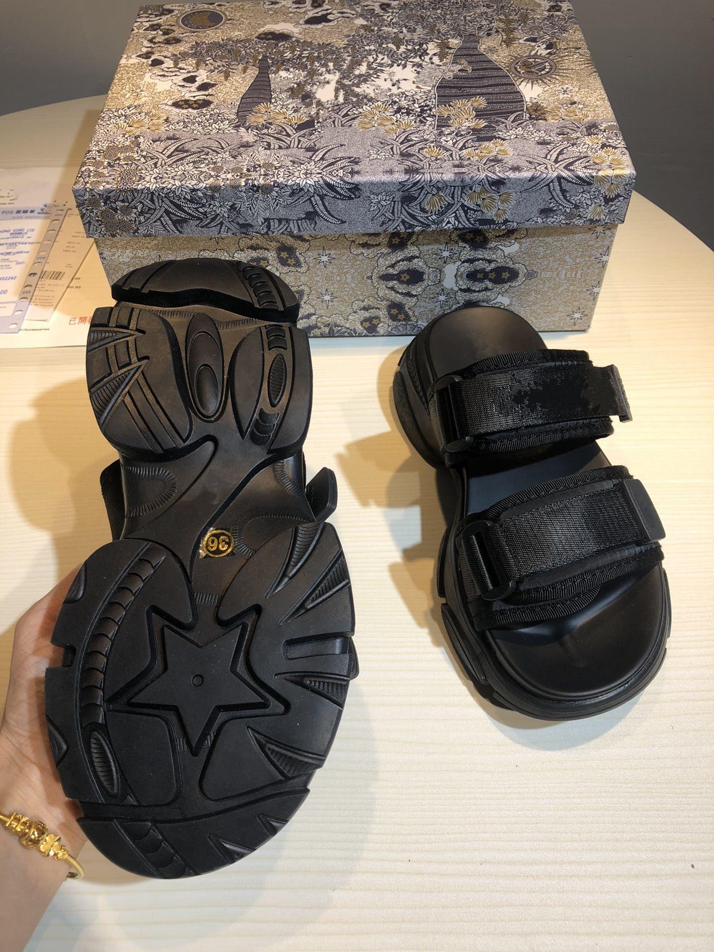 Deportiva blanca camuflaje Técnica Tela mula Plataforma diapositivas sandalias de cuero de lujo de las mujeres calza tamaño de diseño de 35 a 40