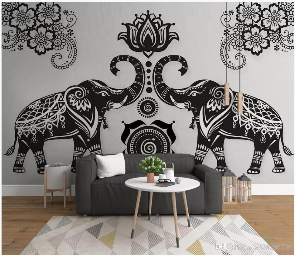 Customized Photo Wallpaper 3d Murals Wallpapers Simple Hand Drawn