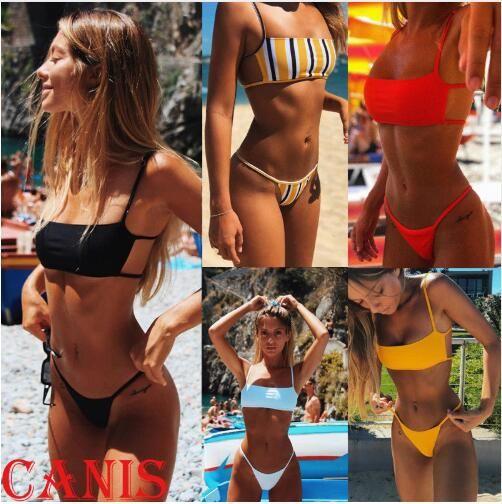 Sext Thong Bikini Set Women Swimwear 2019 New Push Up Padded Brazilian Beachwear Biquini Swimsuit Women Bathing Suit