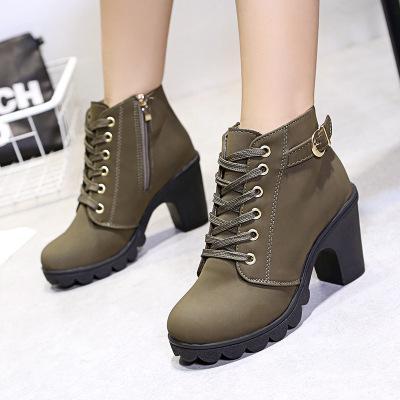 Женская shoes2019 новые женские туфли короткие сапоги женские сапоги Мартин сапоги женские пояса толщиной пряжки с обувью женщин