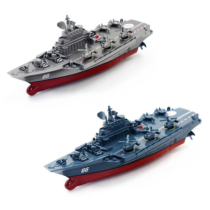 2.4GHz. Childrens Toy Água de controle remoto navio porta-aviões refinado Boat Modelo Barcos RC