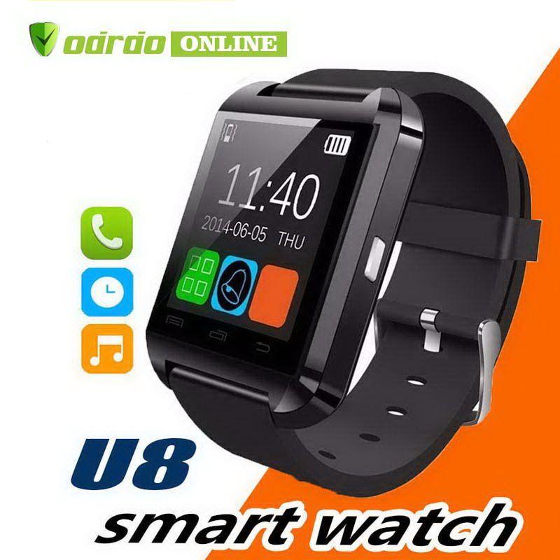 U8 Smart Watch Smartwatch Relojes de pulsera con altímetro y motor para iPhone 7 6 6S Plus Samsung S8 Pluls S7 edge Android Apple Celular