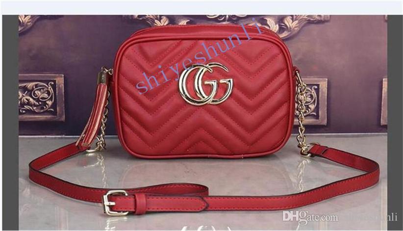 A031 2020 heiße Verkaufsfrauen Designer Handtaschen Handtasche diagonale Kurier Schulterbeutel-Kettenbeutel gute Qualität PU-Leder Geldbörsen Damen