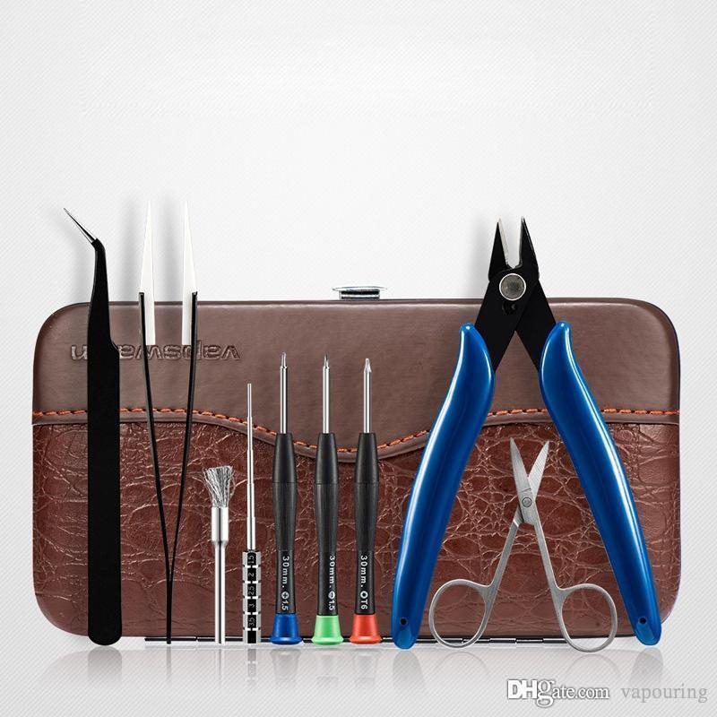Newest Vapswarm Tool Kit Mini Set For DIY VAPE RDA RDTA RTA TANK Atomizer Vaporizer Coils Wire Carry Bag Tweezers Scissors Bolt Driver DHL 1
