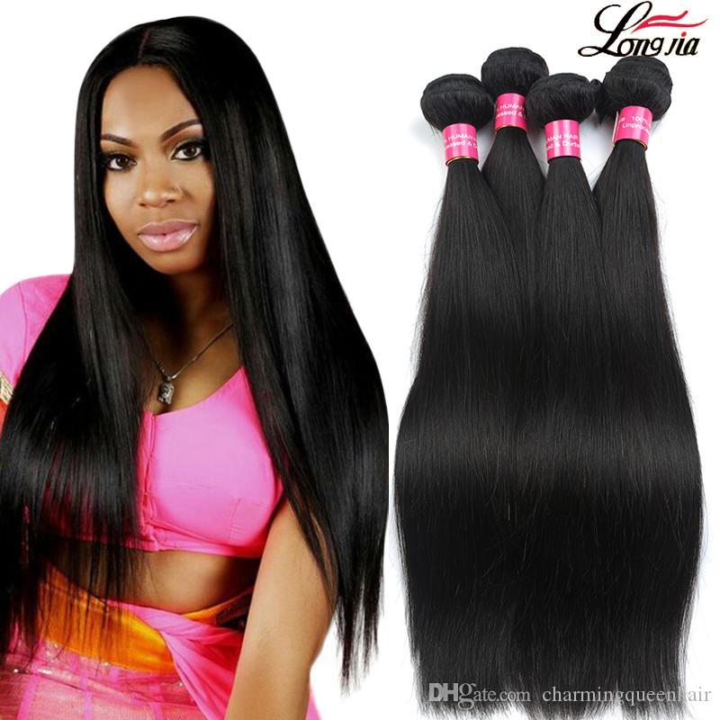 Mink brasiliana capelli lisci Bundles Virgin del brasiliano dei capelli umani trama diritta 1B 2 a 4 colori Lordo Diritto estensioni dei capelli umani