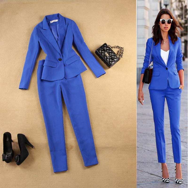 2021 Womens Business Suit Fashion Suit Female Career Jacket And Long Sections Temperament Casual Two Piece Pantsut From Saltblue 59 68 Dhgate Com