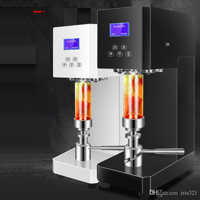 220V sellado comercial puede beber agua de la burbuja tienda de té con leche máquina fácil de sellado de la máquina taza poder de bebida sellado de la máquina