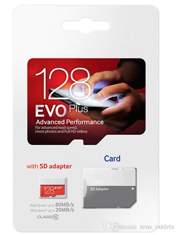 2019 горячий продавать оранжевый EVO Красный EVO Plus Class 10 256GB 64GB 32GB 128GB Flash TF карта памяти C10 адаптер PRO PLUS Class 10 95mb/s