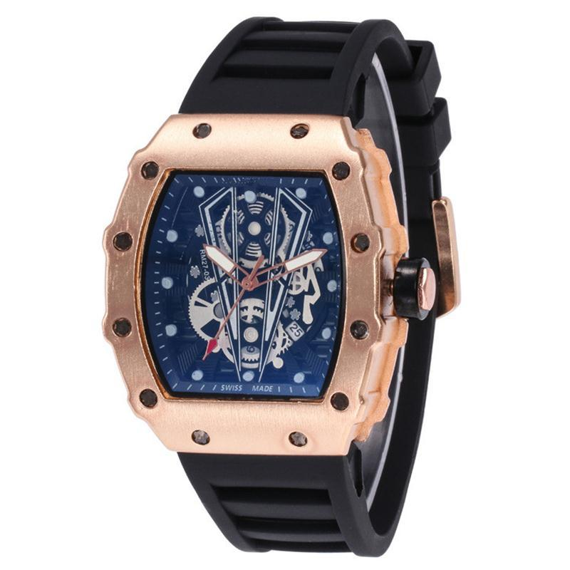 Relógios de quartzo dos homens de luxo esporte relógio de quartzo Moda Masculina Militar Silicone Sports Relógios Atacado Frete Grátis