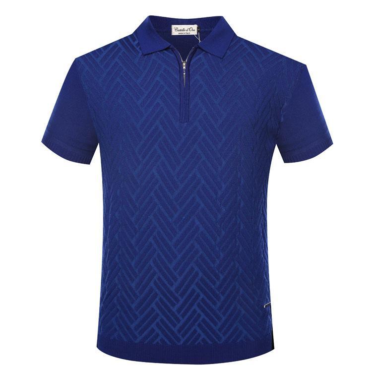 camicia Billionaire TACESHARK T mens comodità collare commercio cerniera modello geometria abbigliamento maschile libera il trasporto 2018 l'estate
