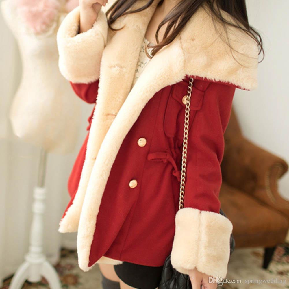2018 Nuova giacca invernale autunnale Cappotto in cotone Donna Spessa rossa Parka Solid Giacca lunga Slim Plus Size Giacche invernali da donna fs5906